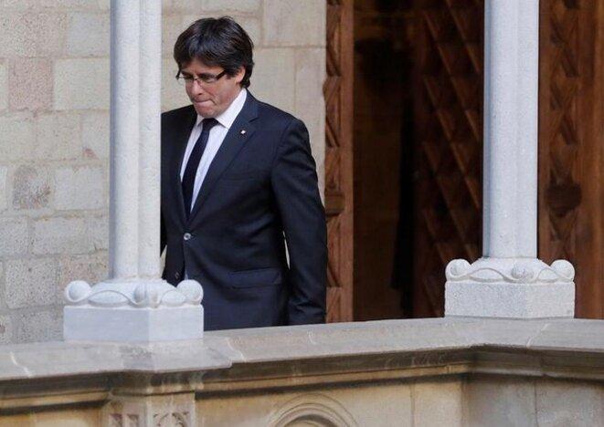 Carles Puigdemont, à Barcelone, le 26 octobre 2017. © Reuters