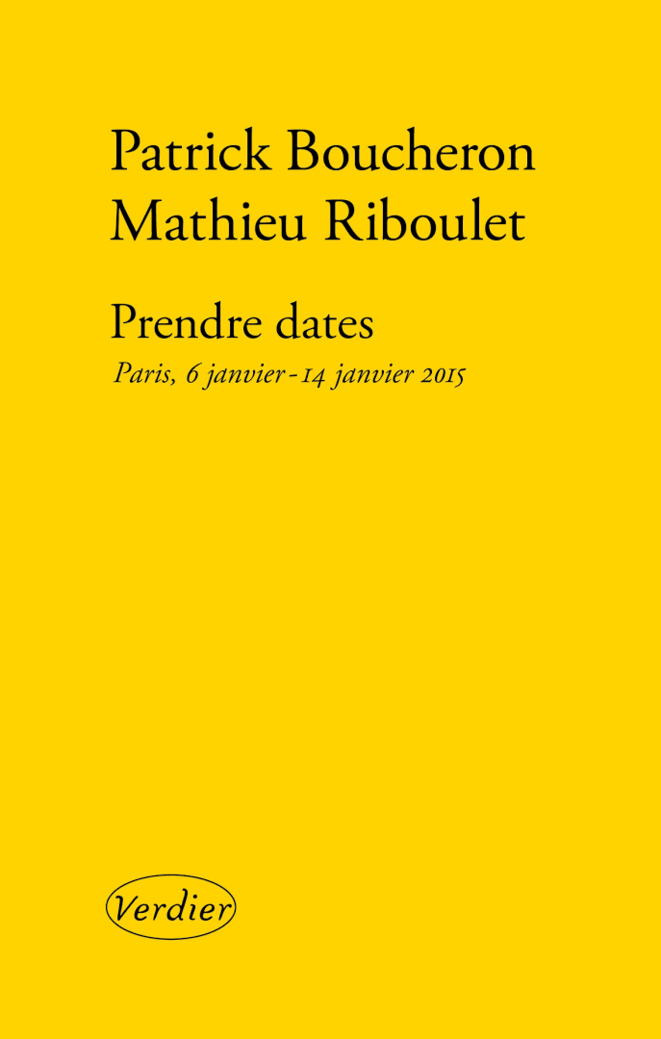 Couverture du livre de Patrick Boucheron et Mathieu Riboulet. Editions Verdier, 2015.