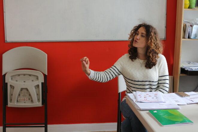 Charlotte Caccialupi, embauchée en contrat aidé, en octobre 2017. © MG