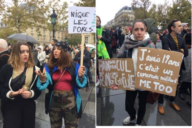 29 octobre, dans la manifestation parisienne © JC