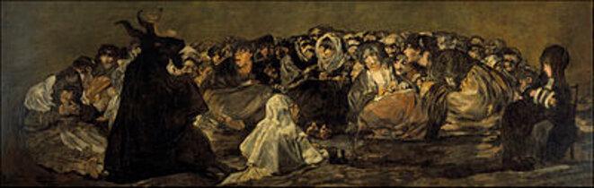 El aquellare o El gran Cabrón (1823), Francisco de Goya y Lucientes (1746-1828) © Museo del Prado