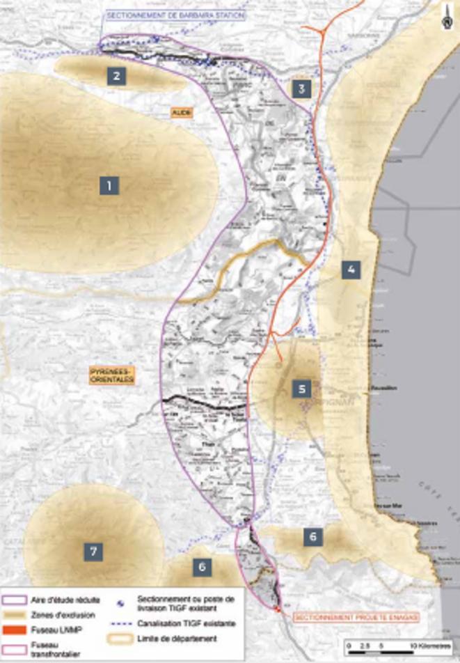 Carte de la zone d'étude (Illustration TIGF).