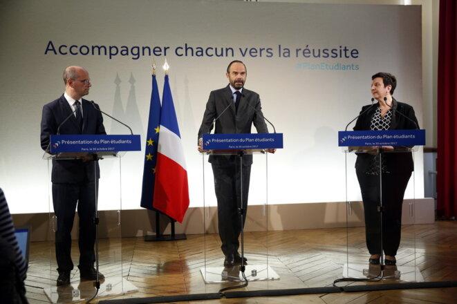 Jean-Michel Blanquer, Édouard Philippe et Frédérique Vidal © DR