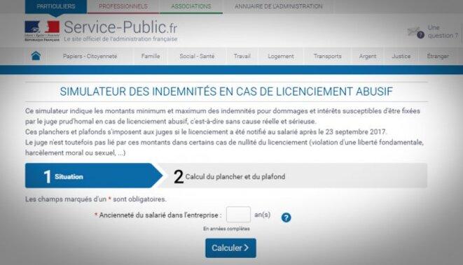 Service Public Simulateur Des Indemnites En Cas De Licenciement