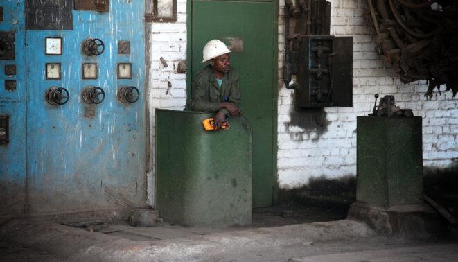 Site de maintenance de la Gécamines à Lubumbashi © Christophe Rigaud - Afrikarabia