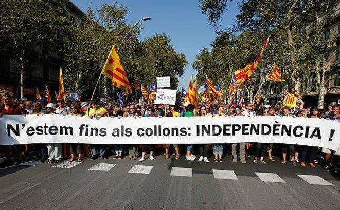 Manifestation à Barcelone pour l'indépendance de la Catalogne