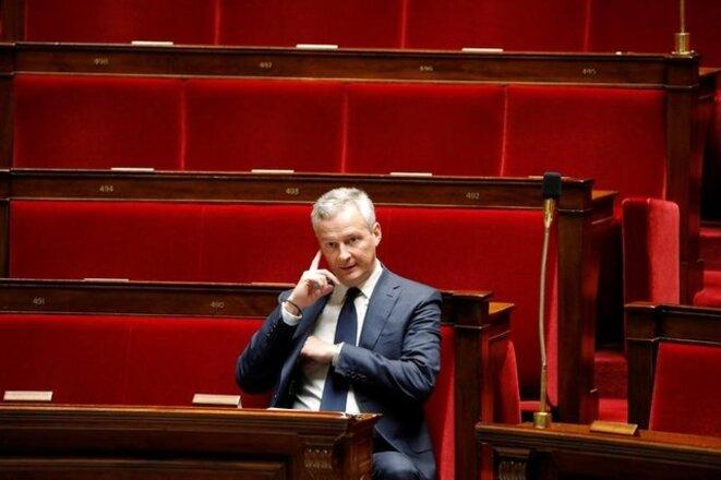 Bruno Le Maire, ministre de l'économie, à l'Assemblée le 24 octobre 2017. © Reuters