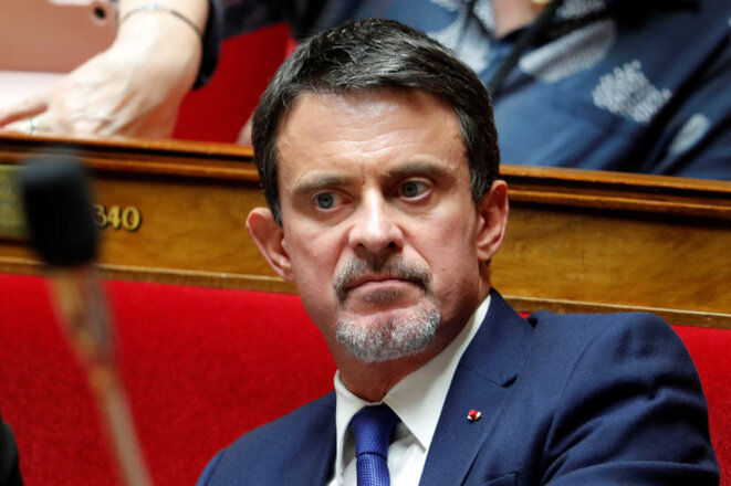 Leading the charge: former premier Manuel Valls. © Reuters
