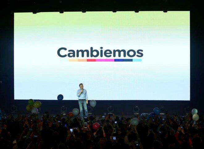 Mauricio Macri, après la victoire de Cambiemos, le 22 octobre 2017. © Reuters