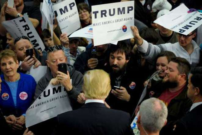 Donald Trump, durante su campaña electoral. Nada ha cambiado desde entonces. © Reuters