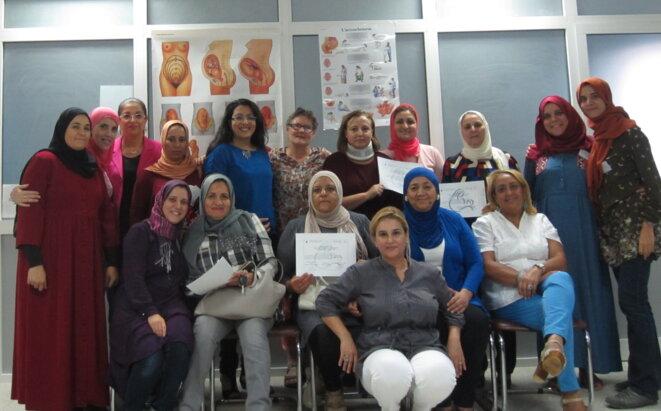 Sages-femmes ayant suivi la première formation de l'ATEP