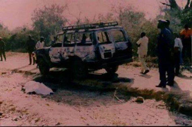 La voiture de Norbert Zongo retrouvée calcinée