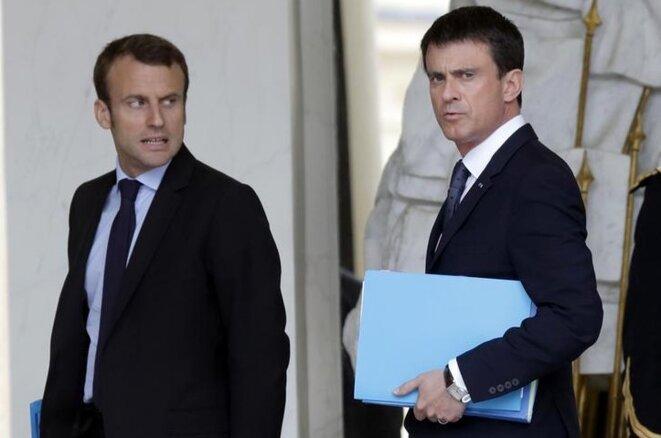 Emmanuel Macron et Manuel Valls, en juin 2015. © Reuters