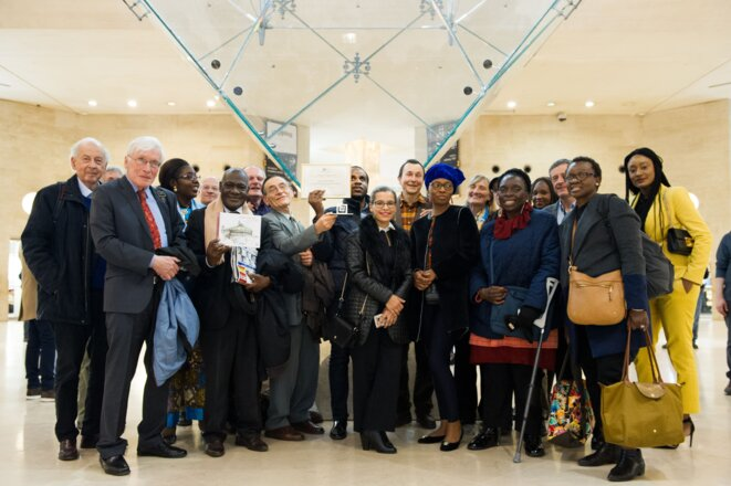L'équipe de Karibu qui a reçue le prix