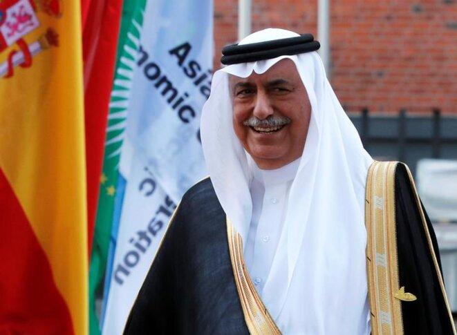 Ibrahim ben Abdel Aziz al-Assaf au G20 de Hambourg, en juillet 2017 © Reuters