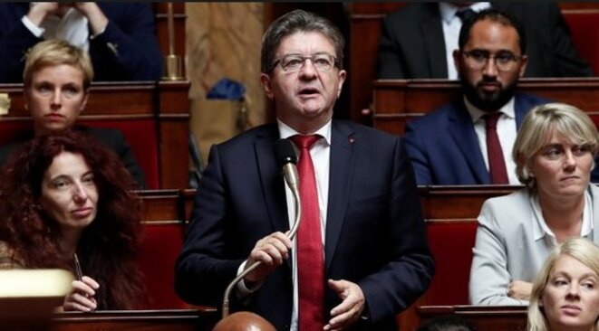 Jean-Luc Mélenchon à l'Assemblée nationale © DR