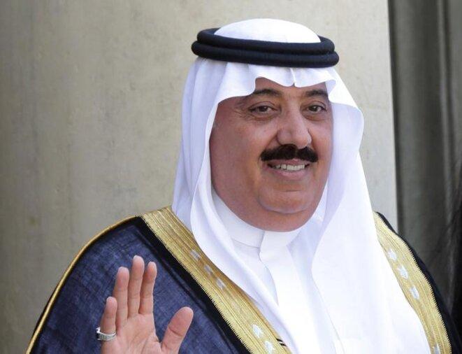 Le prince Miteb ben Abdallah à l'Élysée, en juin 2014 © Reuters
