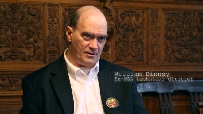 "William Binney explique les dangers de la surveillance de masse dans ""Nothing to hide"""