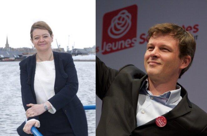 Isabelle Thomas et Guillaume Balas. © Blog de Guillaume Balas