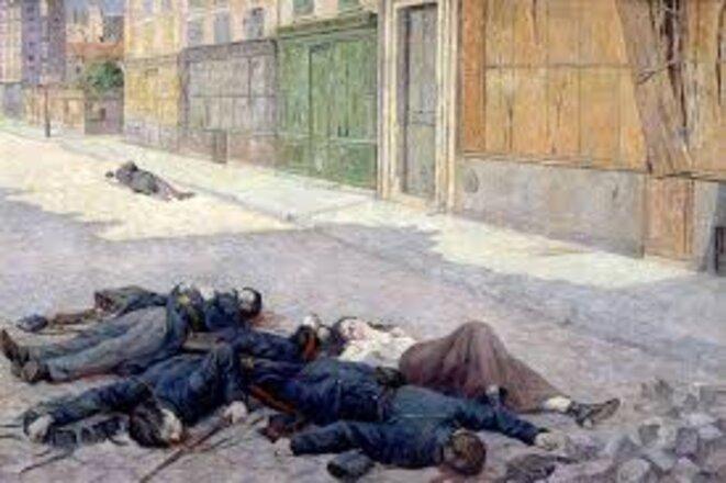 Une rue de Paris en mai 1871 - tableau de Maximilien Luce