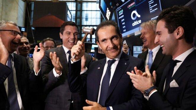 Patrick Drahi lors de l'introduction d'Altice USA à Wall Street en juin © Reuters