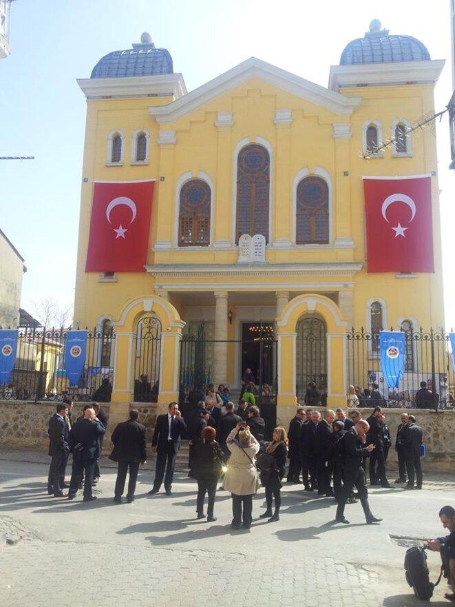 Réouverture de la synagogue d'Edirne, après travaux (photographie personnelle, 2015).