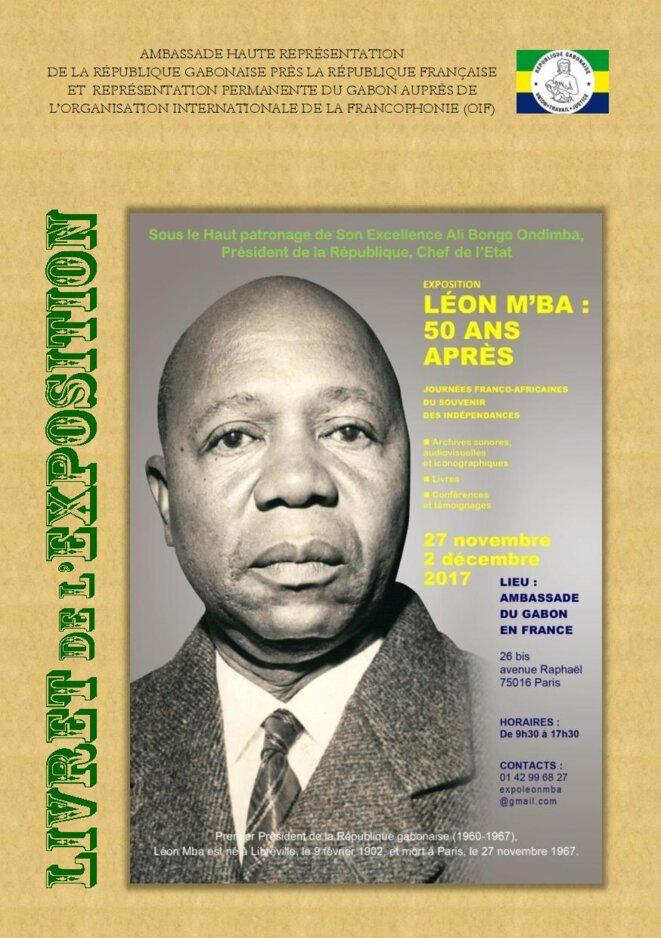 """Gabon - Exposition """"Léon M 'ba : 50 ans après """" - Livret exposition Léon M ba-France"""