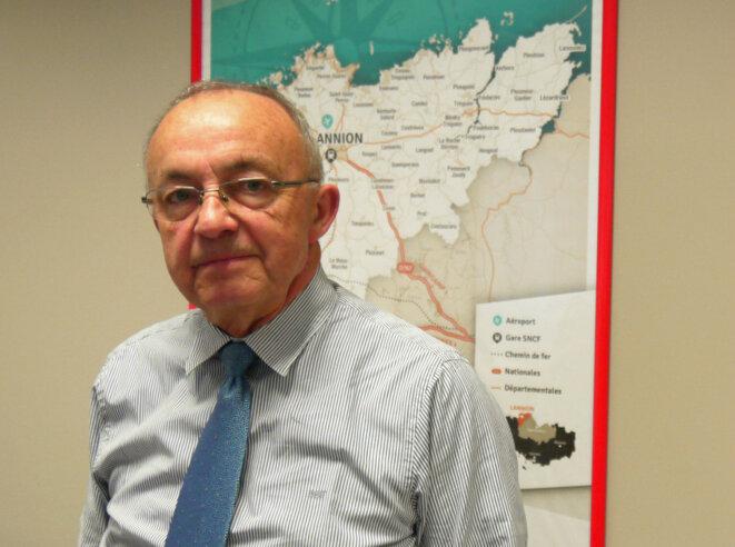 Joël Le Jeune, président de Lannion Trégor Communauté. © D.I.