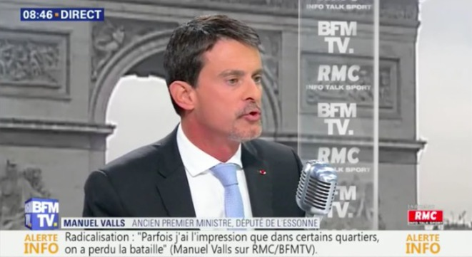 Manuel Valls sur BFMTV le 15 novembre 2017