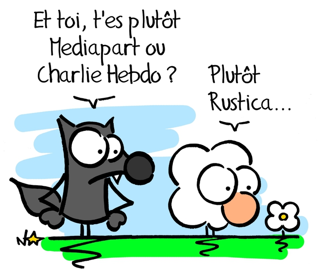 Mediapart vs Charlie © Norb