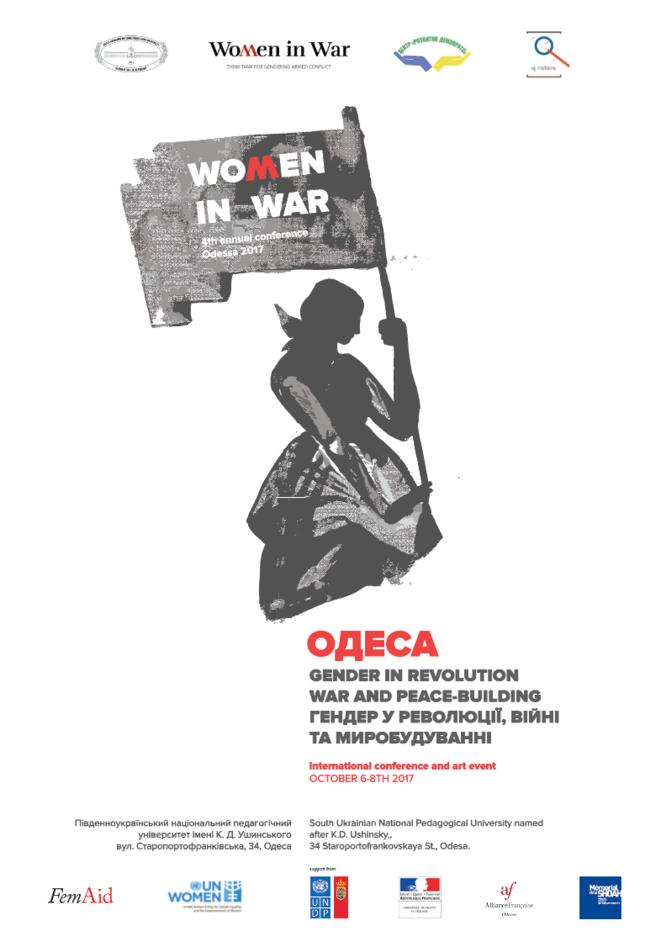 affiche du colloque d'Odessa organisé par Women in War © Natasha Tzeluba