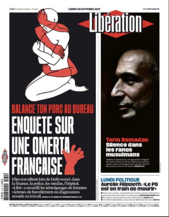 Une de « Libération » le 30 octobre 2017