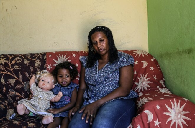 Simone et sa fille Sonia. © J-M.A