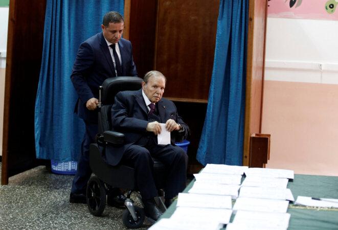 Le président Bouteflika, lors des élections législatives du 4 mai 2017 © Reuters