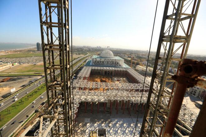La grande mosquée d'Alger en construction, en février 2017 © Reuters