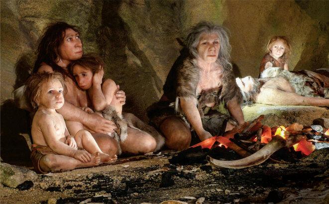 Les données génétiques montrent que les Néandertaliens vivaient en petits groupes relativement isolés, contrairement aux humains modernes © NIKOLA SOLIC/REUTERS/NEWSCOM