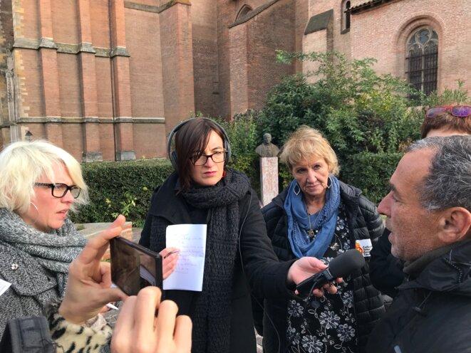 Mario, SDF, témoignant devant la presse le 15 novembre [Ph. YF]