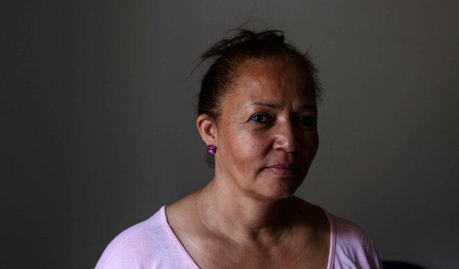 Luzia fait partie des «atingindos»: «On revendique juste nos droits», dit-elle. © Jean-Mathieu Albertini.