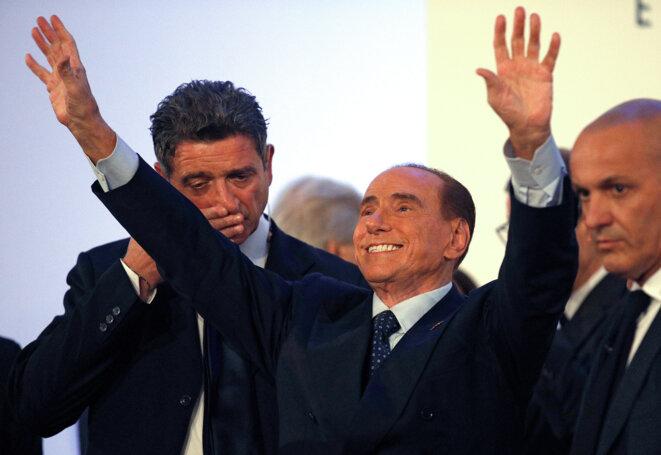 Silvio Berlusconi lors d'un meeting de Forza Italia, à Catane, en Sicile, le 2 novembre 2017 © Reuters / Antonio Parrinello