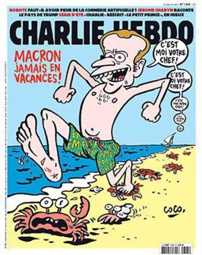 macron-jamais-en-vacances-charlie