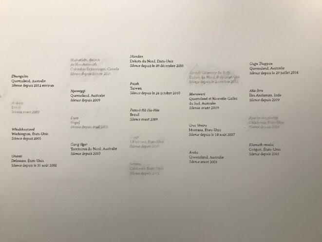 """Marianne Mispalaëre, """"Bibliothèque des silences"""" (détail), installation, Exposition """"Echolalia"""", Galerie Martine Aboucaya, Paris © Guillaume Lasserre"""