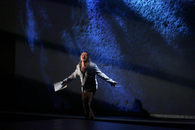 """Scène du spectacle """"Le retour d'Ulysse"""" © Isabelle Fournier"""