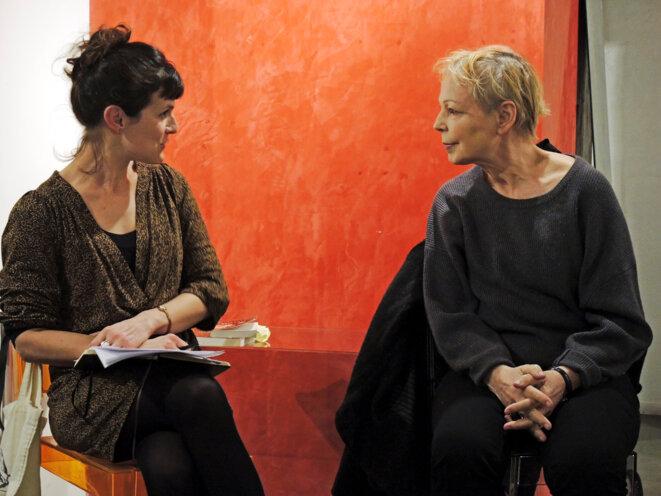 Anne Delaplace et Lydie Salvayre le 17 novembre 2017 Paris © Gilles Walusinski
