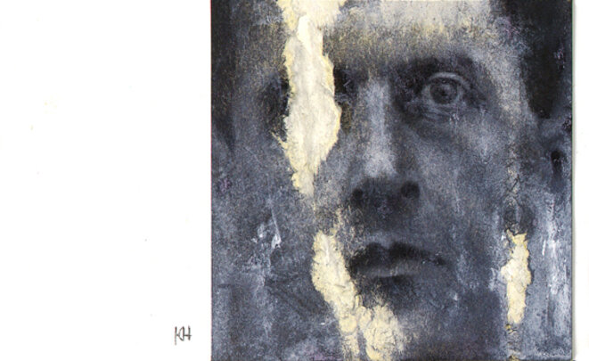 Portrait de Ludwig Wittgenstein par Jean-Christophe Lerouge © J-Ch Lerouge