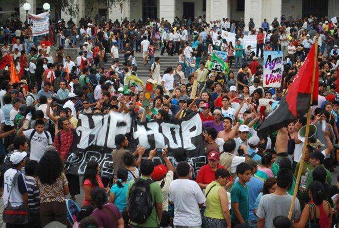 Bloque Hip Hop. Gran Marcha de los Pueblos 2014