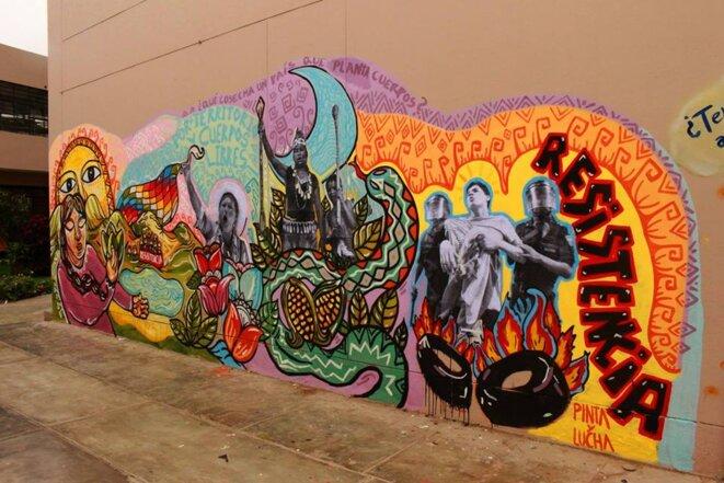 Mural, facultad de Ciencias Sociales, Universidad Nacional Mayor de San Marcos (UNMSM), Lima, junio 2015. © Colectivo Espacio Abierto