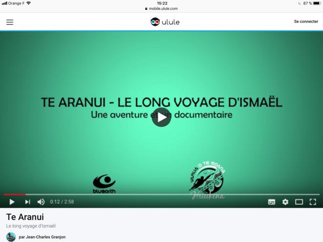 Capture d'écran du Trailer de : «Te Aranui, le long voyage d'Ismaël»