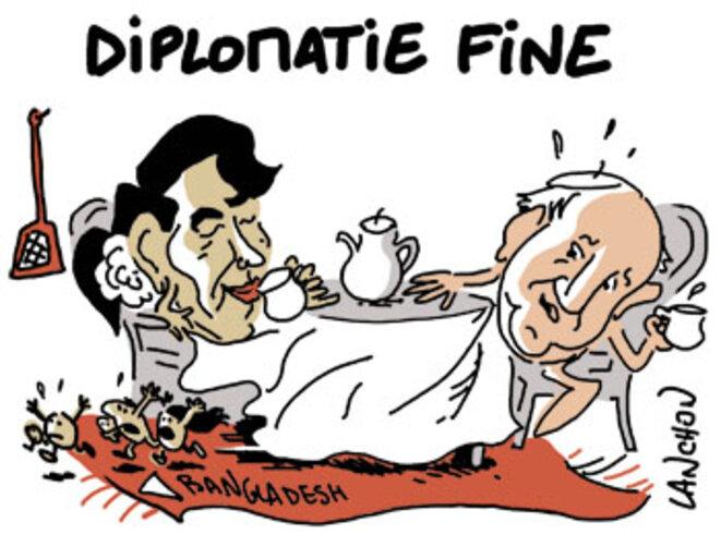 François et Aung San Suu Kyi © Agnès Lanchon