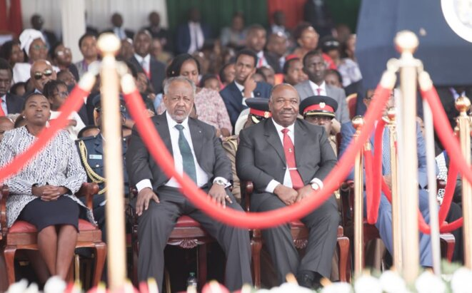 KENYA-ALI BONGO ONDIMBA Á L'INVESTITURE D'UHURU KENYATTA