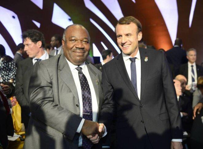 5ème Sommet UA-UE-LES CHEFS D'ETATS AFRICAINS-ALI BONGO ONDIMBA ET  EMMANUEL MACRON